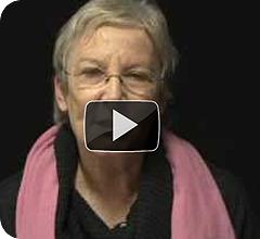 Una mujer se pregunta: ¿Tú qué sientes?. Campaña de apoyo a Gaza.