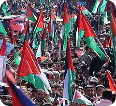 Manifestación en Gaza por la unidad Palestina