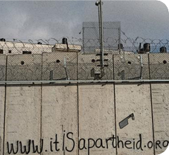 Escrito sobre el muro del Apartheid
