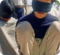 Niños palestinos detenidos y vendados pro el ejército israelí