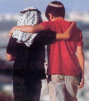 palestinian and israeli boys